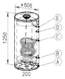 RVS indirecte, staande boiler - 200 liter
