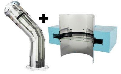 Lightway Crystal 400 HP set SCHUIN dak met Blue Performance